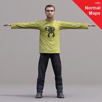 aXYZ design - CMan0019-CS / Rigged for 3D Max + Character Studio 3D Model