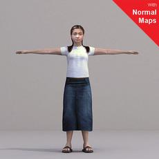 aXYZ design - CWom0022-CS / Rigged for 3D Max + Character Studio 3D Model