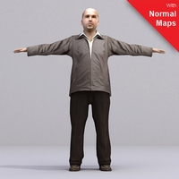 aXYZ design - AMan0002-TP / 3D Human for superior visualizations 3D Model