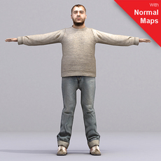 aXYZ design - AMan0004-TP / 3D Human for superior visualizations 3D Model