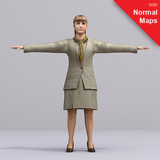 aXYZ design - AWom0002-TP / 3D Human for superior visualizations 3D Model