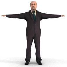 aXYZ design - BMan0009-TP / 3D Human for superior visualizations 3D Model