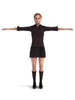 aXYZ design - BWom0009-TP / 3D Human for superior visualizations 3D Model