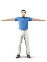 aXYZ design - CMan0001-TP / 3D Human for superior visualizations 3D Model