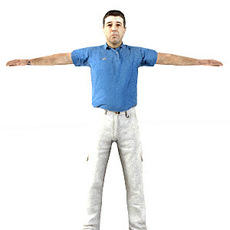 aXYZ design - CMan0001-TP / 3D Human for superior visualizations 3D Model