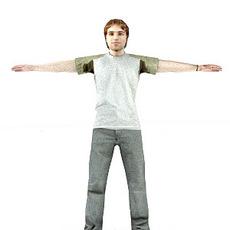 aXYZ design - CMan0002-TP / 3D Human for superior visualizations 3D Model