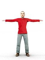 aXYZ design - CMan0003-TP / 3D Human for superior visualizations 3D Model