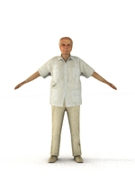 aXYZ design - CMan0007-TP / 3D Human for superior visualizations 3D Model