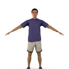 aXYZ design - CMan0008-TP / 3D Human for superior visualizations 3D Model