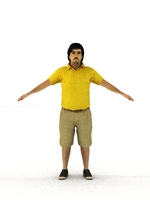 aXYZ design - CMan0009-TP / 3D Human for superior visualizations 3D Model