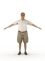 aXYZ design - CMan0006-TP / 3D Human for superior visualizations 3D Model