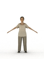 aXYZ design - CWom0007-TP / 3D Human for superior visualizations 3D Model