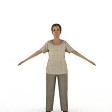 aXYZ design - CWom0008-TP / 3D Human for superior visualizations 3D Model