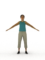 aXYZ design - CWom0009-TP / 3D Human for superior visualizations 3D Model