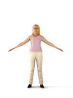 aXYZ design - CWom0010-TP / 3D Human for superior visualizations 3D Model