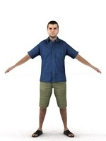 aXYZ design - CMan0012-TP / 3D Human for superior visualizations 3D Model