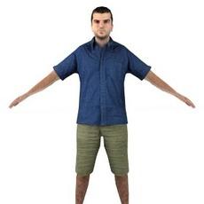 aXYZ design - CMan0012-TP / 3D Human for superior visualizations 3D Model