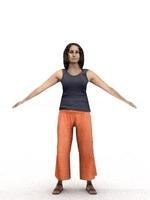 aXYZ design - CWom0014-TP / 3D Human for superior visualizations 3D Model
