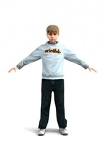 aXYZ design - CBoy0001-TP / 3D Human for superior visualizations 3D Model