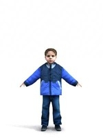 aXYZ design - CBoy0004-TP / 3D Human for superior visualizations 3D Model