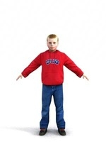 aXYZ design - CBoy0005-TP / 3D Human for superior visualizations 3D Model