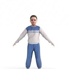 aXYZ design - CGirl0003-TP / 3D Human for superior visualizations 3D Model