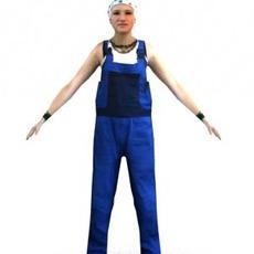 aXYZ design - CWom0016-TP / 3D Human for superior visualizations 3D Model
