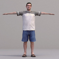 aXYZ design - CMan0016-TP / 3D Human for superior visualizations 3D Model