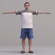 aXYZ design - CMan0016-TP / 3D Human for superior visualizations 3D Model