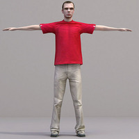 aXYZ design - CMan0017-TP / 3D Human for superior visualizations 3D Model