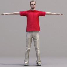 aXYZ design - CMan0017-TP / 3D Human for superior visualizations 3D Model