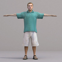 aXYZ design - CMan0018-TP / 3D Human for superior visualizations 3D Model