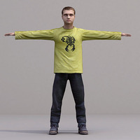 aXYZ design - CMan0019-TP / 3D Human for superior visualizations 3D Model