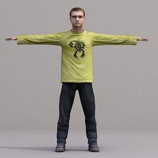 aXYZ design - CMan0019-TP / 3D Human for superior visualizations 3D Model