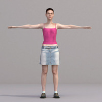 aXYZ design - CWom0018-TP / 3D Human for superior visualizations 3D Model