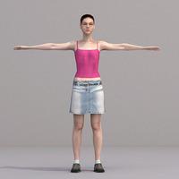 aXYZ design - CWom0018-TP / 3D Human for superior visualizations 3D Model