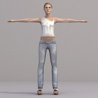 aXYZ design - CWom0019-TP / 3D Human for superior visualizations 3D Model