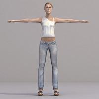 aXYZ design - CWom0019-TP / 3D Human for superior visualizations 3D Model