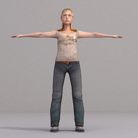 aXYZ design - CWom0020-TP / 3D Human for superior visualizations 3D Model