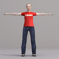aXYZ design - CWom0021-TP / 3D Human for superior visualizations 3D Model
