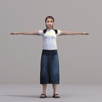 aXYZ design - CWom0022-TP / 3D Human for superior visualizations 3D Model