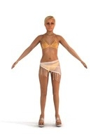 aXYZ design - SWom0002-TP / 3D Human for superior visualizations 3D Model