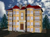 4 Floor House 3D Model