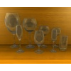 Set of glasses 3D Model