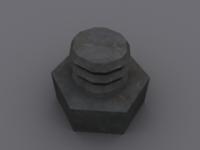 Free BOLT & NUT 3D Model