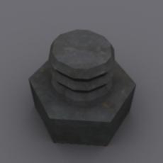 BOLT & NUT 3D Model