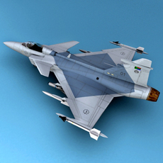 JAS-39 3D Model