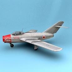 Mig-15 Korea 3D Model