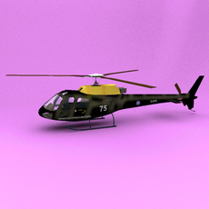 AS-350 Defence Helicopter Flying School of RAF 3D Model