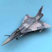 Mirage 2000 Greece 3D Model